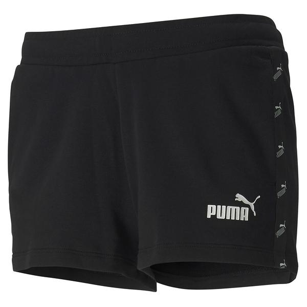 PUMA Amplified 女裝 短褲 2英吋 針織 真理褲 慢跑 休閒 串標 黑 亞規【運動世界】58530301