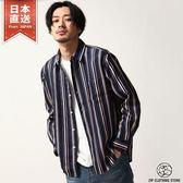 長袖襯衫 直條紋襯衫