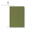 【Graf Von Faber-Castell】頂級麻布筆記本A5 橄欖綠 V188671  /本