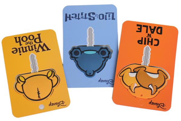 【卡漫城】 屁屁 KEY 造形頭 三款一 ㊣版 奇奇蒂蒂 史迪奇 維尼熊 Pooh 吊飾 Stitch 鑰匙套 鑰匙圈