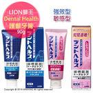 日本代購 LION 獅王 Dental Health 護齦牙膏 預防牙周病 防蛀牙 90g 強效型 敏感性牙齒