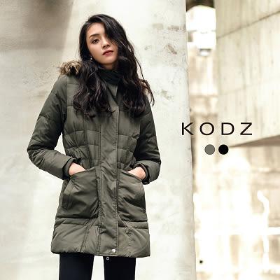 東京著衣【KODZ】質感修身特級羽絨連帽外套-毛.帽皆可拆-S.M.L(171620)