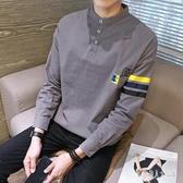 秋季長袖t恤男士polo衫韓版潮流內搭上衣服小衫男時尚打底衫潮 yu8256『俏美人大尺碼』