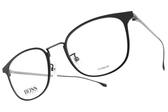 HUGO BOSS光學眼鏡 HB1030F O6W (霧黑-霧槍) 純鈦LOGO細框 # 金橘眼鏡