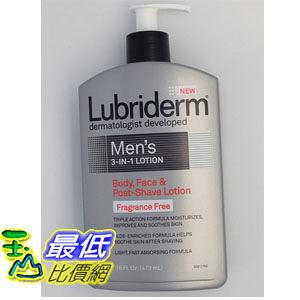 [美國直購] Lubriderm men s 3in1 Lotion 男士 三合一 身體無香保濕乳液 16 Ounce