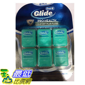 [COSCO代購] C1203155 GLIDE COMFORT PLUS FLOSS 清潔舒適牙線—薄荷口味 40公尺6入