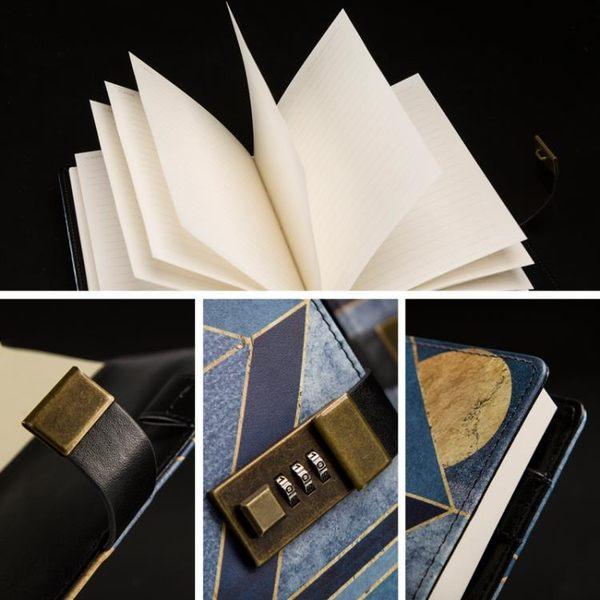 CAGIE/卡杰密碼筆記本日記本帶鎖私密成人創意手帳本B6記事本 最後一天85折