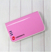 USERWATS_自帶線 7800毫安行動電源 - 粉紅
