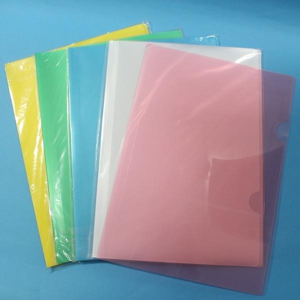 E310 L型文件套 L夾 A4資料夾(厚)/一小包12個入{定60} 易見夾~雙