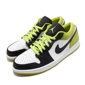 Nike Air Jordan 1 Low SE Black Cyber 黑 綠 男鞋 低筒 籃球鞋 運動鞋【PUMP306】 CK3022-003