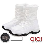 雪靴 雪國氛圍防潑水冰爪中筒雪靴(白) *0101shoes【18-1912w】【現+預】