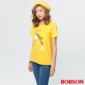 【BOBSON】女款印花縫珠上衣   (28095-30 )