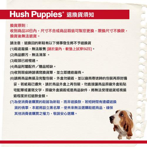 Hush Puppies 毛呢千鳥格咖啡紗TiTi懶人鞋-灰色