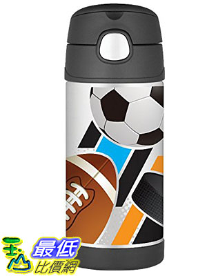 [103美國直購] Thermos 兒童保溫水壺 Funtainer Bottle, 12-Ounce, All Stars F4014ASB6M