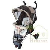 [ 家事達 ] Mother's Love 高級便攜型 三輪手推車 -咖啡色   特價