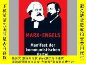 二手書博民逛書店[德文•罕見]共產黨宣言Manifest der kommunistischen ParteiY169321