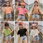 女童短袖T恤2020年夏季新款洋氣純棉半袖韓版時髦兒童夏裝上衣潮 歐歐
