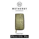 【G2 STORE】WETHERBY-PRIMECROCO-iPhone6/6sPlus-5.5吋手工製作鱷魚紋真皮保護套/皮包-璀璨金