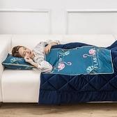 冬季加厚抱枕被子兩用汽車珊瑚絨毯辦公室靠墊神器午睡枕頭小靠枕ATF 艾瑞斯居家生活