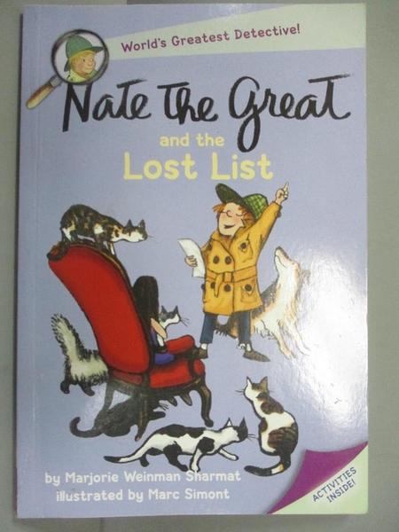 【書寶二手書T7/原文小說_JOX】Nate the Great and the Lost List_Sharmat, Marjorie Weinman