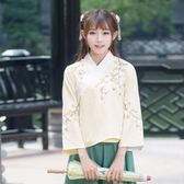 民族風女裝打底衫復古繡花交領改良漢服長袖上衣 LQ4824『科炫3C』