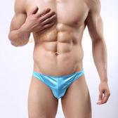 男性內褲 低腰 個性自我亮色性感三角褲(藍色)XL號『滿千88折』