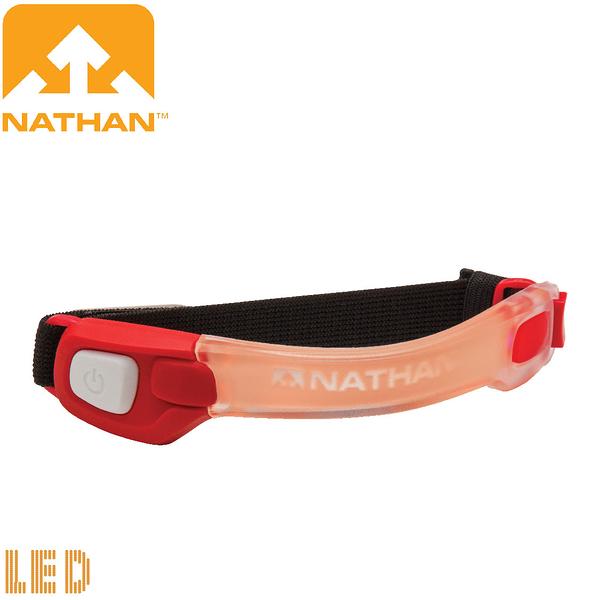 【NATHAN 美國 輕量防水LED手臂環 綠/紅】NA5073NTD/手臂環燈/安全閃燈/警示燈/夜騎/自行車