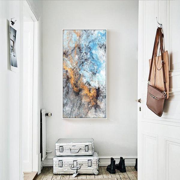 618好康又一發玄關裝飾畫現代簡約豎版掛畫北歐風格餐廳走廊過道抽象畫創意油畫