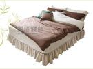 《特價品》-麗塔LITA- 40支色織精梳純棉【濃情可可】雙人床包薄被套枕套四件式
