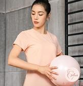健身上衣女運動t恤女夏季健身透氣短袖T恤衫圓領速干衣【大碼百分百】