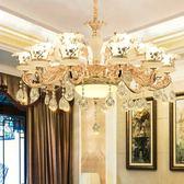 歐式客廳吊燈奢華大氣復式樓餐廳臥室鋅合金玉石蠟燭水晶別墅燈具 220vigo街頭潮人