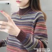 毛衣 半高領毛衣女士寬鬆外穿秋冬新款2020洋氣慵懶內搭加厚打底衫 曼慕