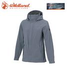 【Wildland 荒野 女 單件式防水透氣外套《灰藍》】W3911/Champ-Tex/保暖夾克/防風防雨/爬山健行