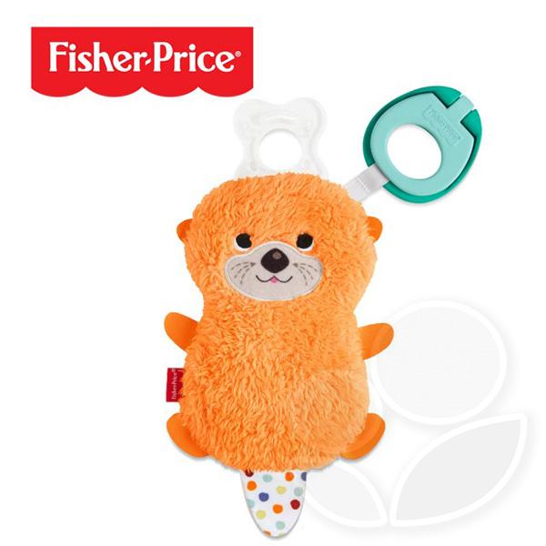 Fisher-Price 費雪 奶嘴掛鍊安撫娃娃-水獺【佳兒園婦幼館】