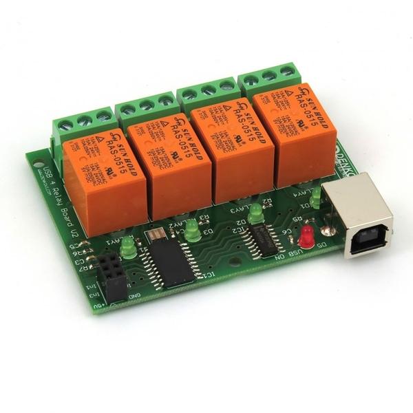 [2美國直購] USB Relay Module 4 Channels, for Home Automation - v2 DAE-CB/Ro4/MCP2200-RAS-USB