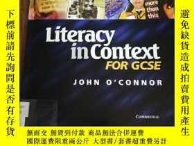 二手書博民逛書店Literacy罕見in Context for GCSE St