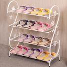(聖誕交換禮物)鐵藝簡易創意多層鞋架簡約現代落地宿舍拖鞋架子家用玄關客廳鞋櫃xw