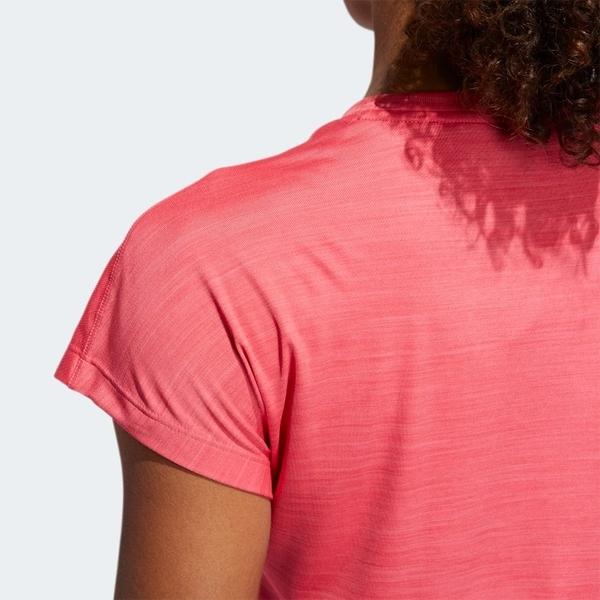 ADIDAS BADGE OF SPORT 女裝 短袖 慢跑 訓練 排汗 乾爽 透氣 粉【運動世界】EB4499