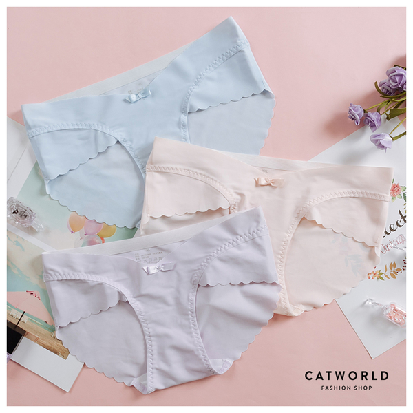 Catworld 無痕冰絲V型孕婦低腰內褲【18805660】‧XL/2XL