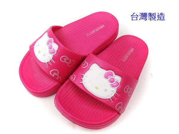 EMMA商城~Hello Kitty凱蒂貓 Q軟超輕量防水拖鞋桃色-台灣製造17-23號
