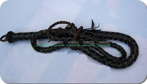 純牛皮牧羊鞭 牛皮軟鞭 蛇形鞭 陀螺鞭 手工編2-3.5米W百貨98