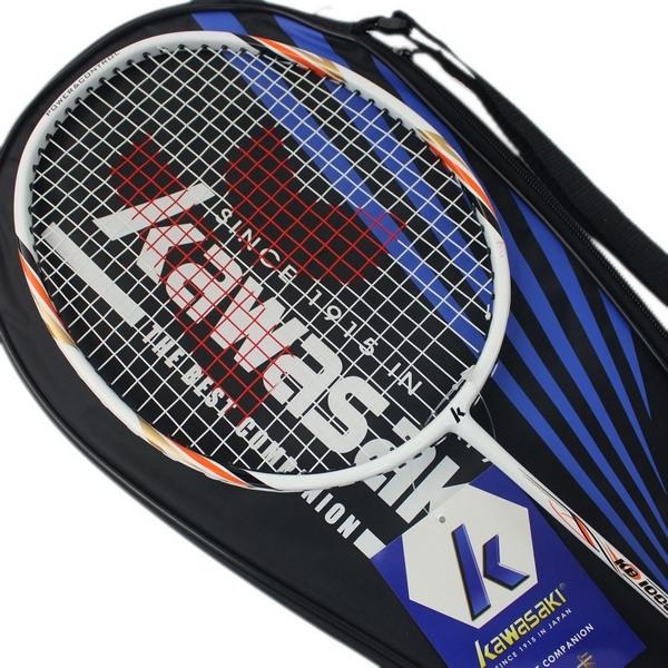 Kawasaki 川崎羽球拍 KB1000/一支入(定1000) 附背拍袋 有穿線 羽毛球拍 羽拍-群KBC01000