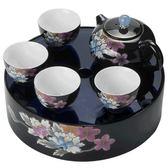 便攜式戶外茶具套裝整套陶瓷簡易小茶盤泡茶器【奈良優品】