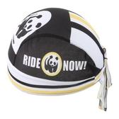 自行車頭巾 吸汗-可愛熊貓拼接造型男女單車運動頭巾73fo18【時尚巴黎】
