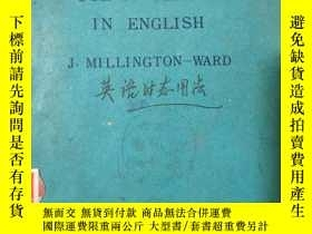 二手書博民逛書店《THE罕見USE OF TENSES IN ENGLISH》(英語時態用法)Y1351 J·MILLNGTO