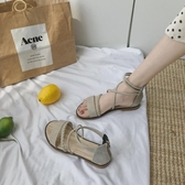 平底涼鞋 網紅夏天時裝羅馬涼鞋女仙女風ins潮2020年新款夏季學生百搭平底