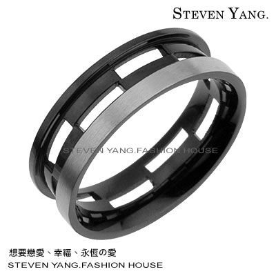 情人對戒 西德鋼飾鋼戒指「命運的邂逅」*單個價格*