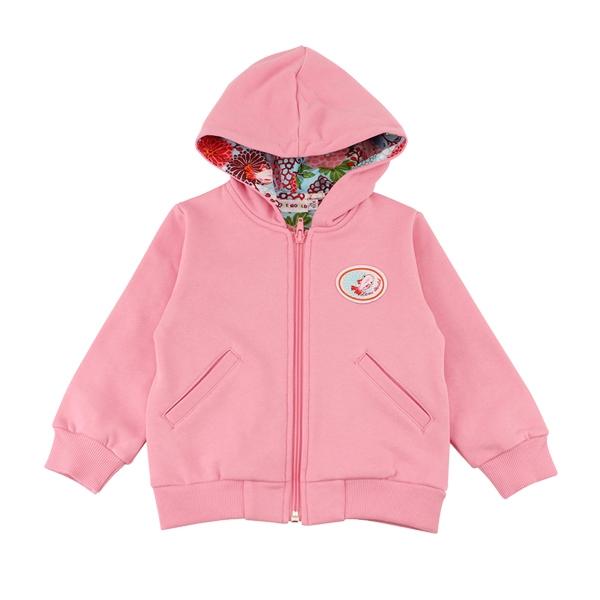 【愛的世界】彈性牡丹金魚連帽長袖外套-粉/6歲-台灣製- - ---秋冬外套