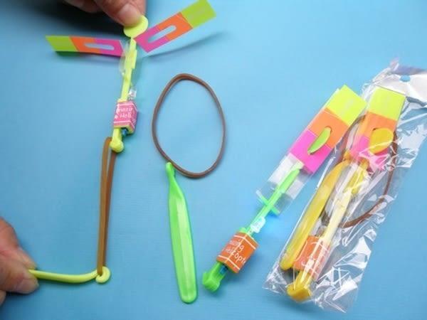 LED彈射竹蜻蜓 LED竹蜻蜓 (小單光/彈射型) 【一袋 12組入】 [#15] 發光竹蜻蜓 彈射飛箭