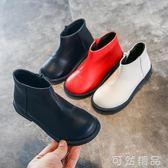 兒童馬丁靴女童短靴真皮英倫風小公主皮靴子秋季新款男童單靴   聖誕節快樂購